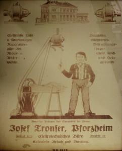 Josef Tronser, Plakat von 1922